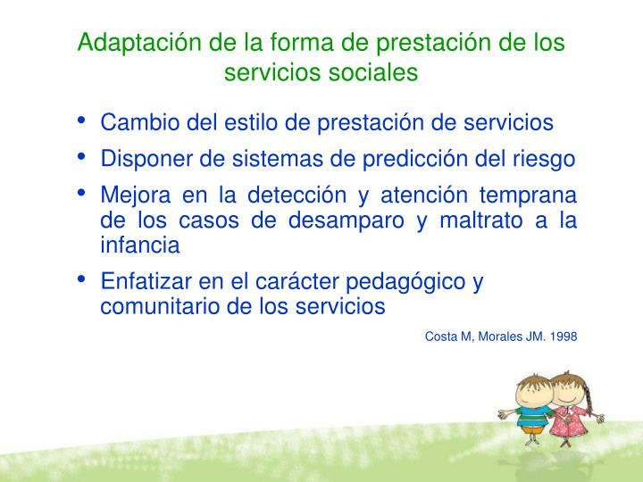 Adaptación de la forma de prestación de los servicios sociales