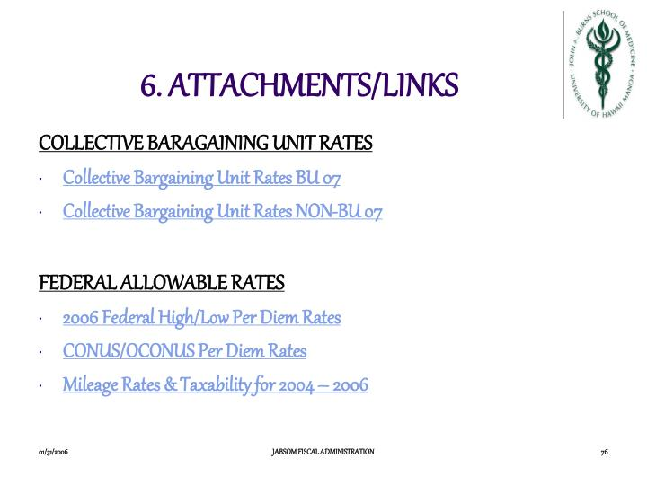 6. ATTACHMENTS/LINKS