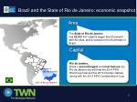 brazil and the state of rio de janeiro economic snapshot
