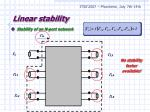 linear stability10