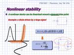 nonlinear stability