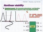nonlinear stability7
