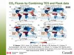 co 2 fluxes by combining tes and flask data