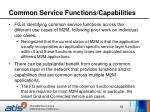 common service functions capabilities