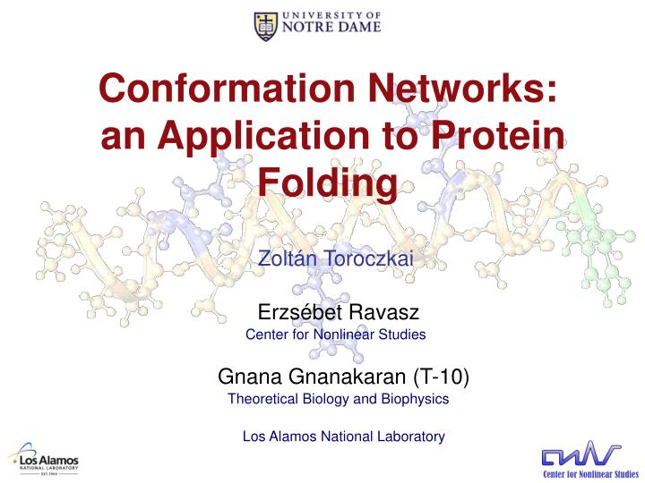 conformation networks an application to protein folding n.