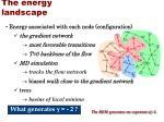 the energy landscape