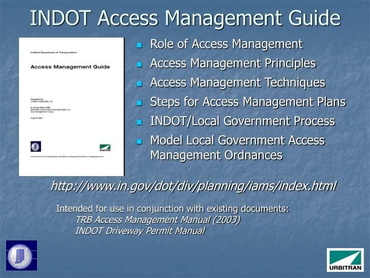 INDOT Access Management Guide