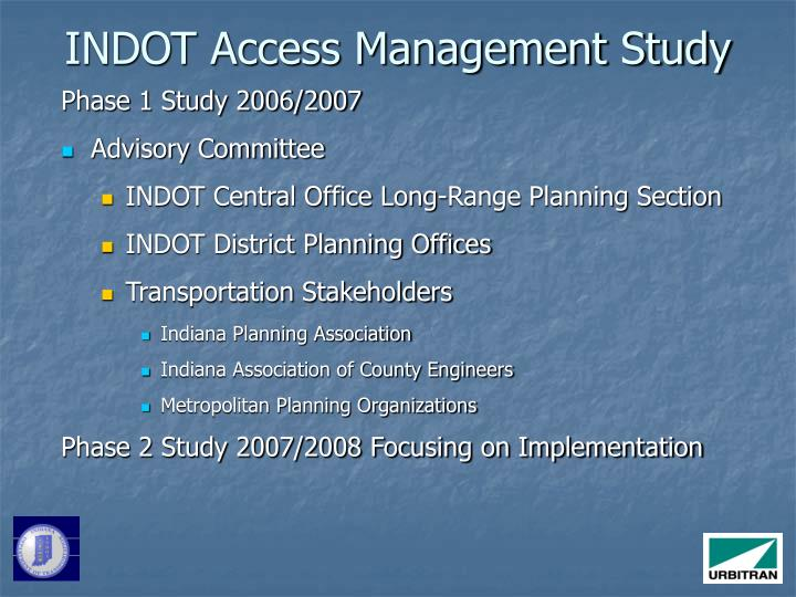 INDOT Access Management Study