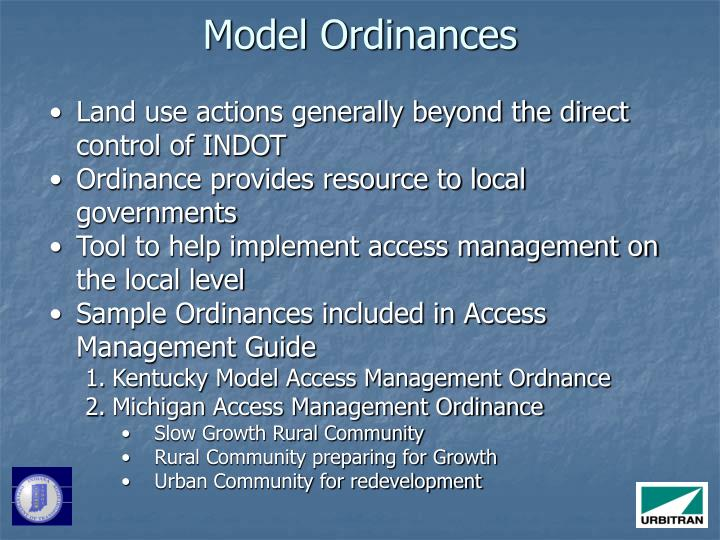 Model Ordinances