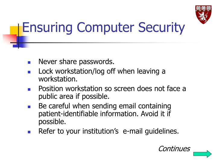 Ensuring Computer Security
