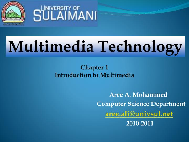 Aree a mohammed computer science department aree ali@univsul net 2010 2011