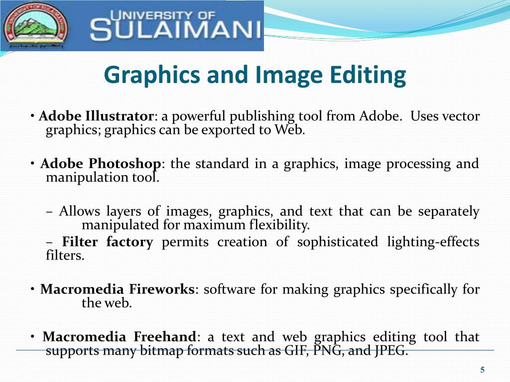 Graphics and Image Editing