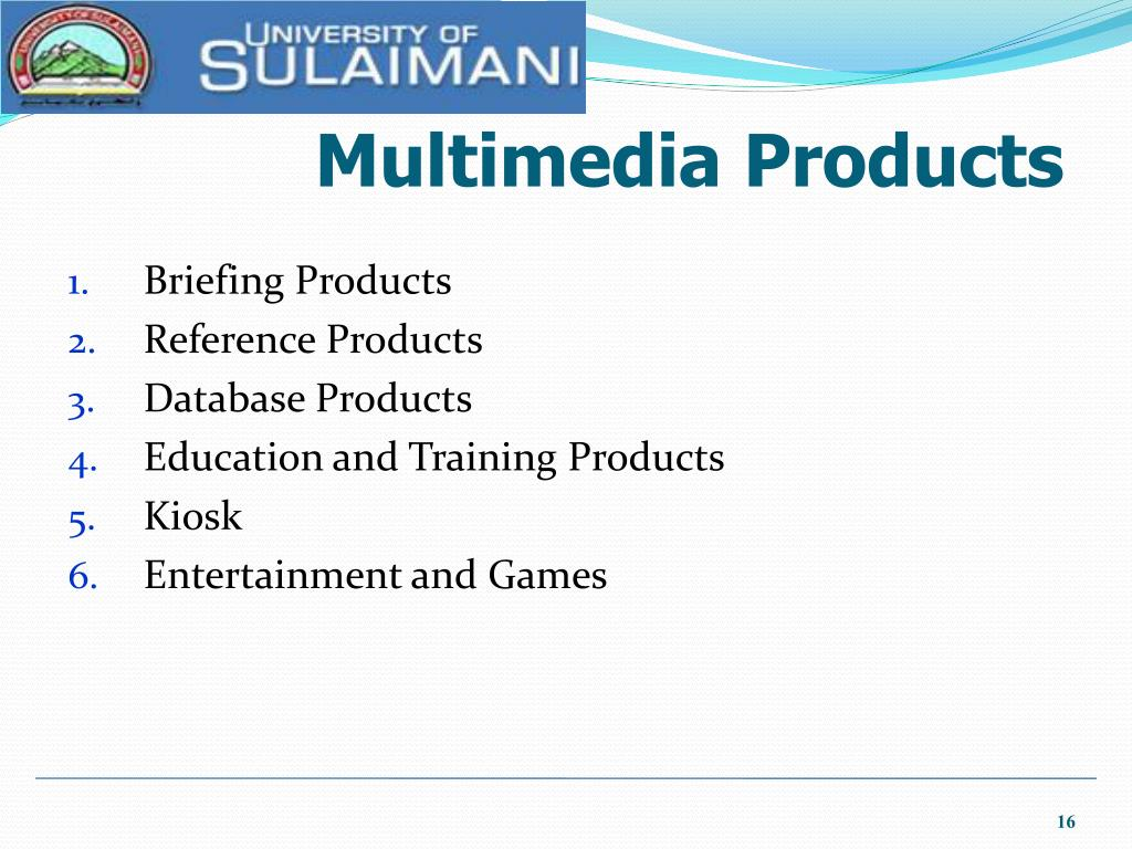 Multimedia Products