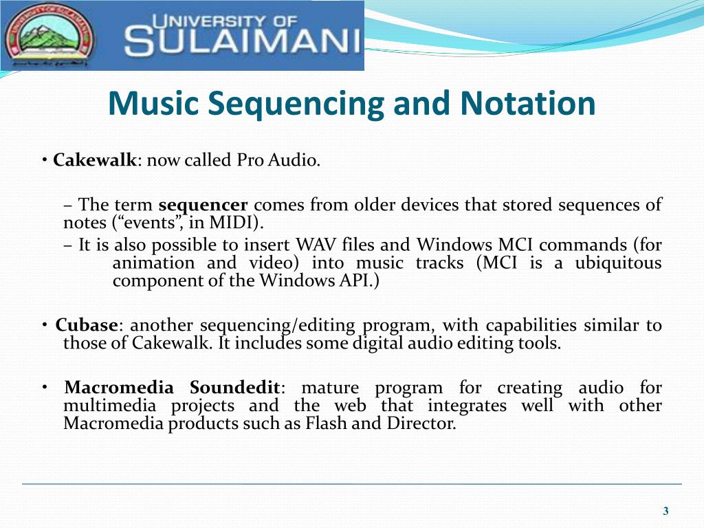 Music Sequencing and Notation