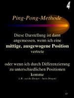ping pong methode