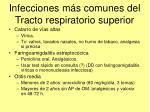 infecciones m s comunes del tracto respiratorio superior