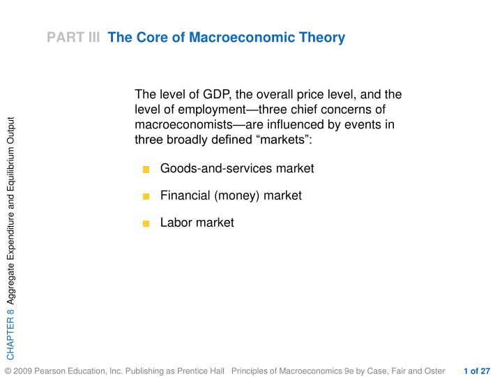part iii the core of macroeconomic theory n.