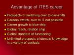 advantage of ites career15