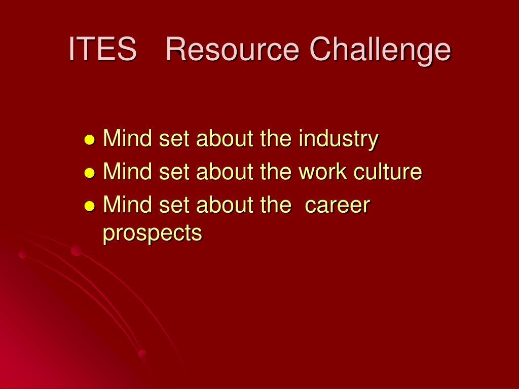 ITES   Resource Challenge