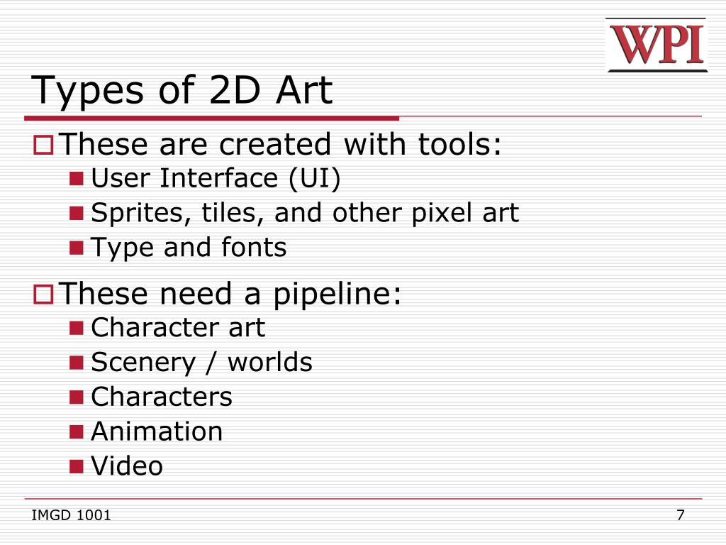 Types of 2D Art