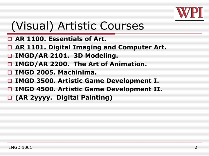 Visual artistic courses