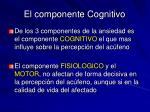 el componente cognitivo