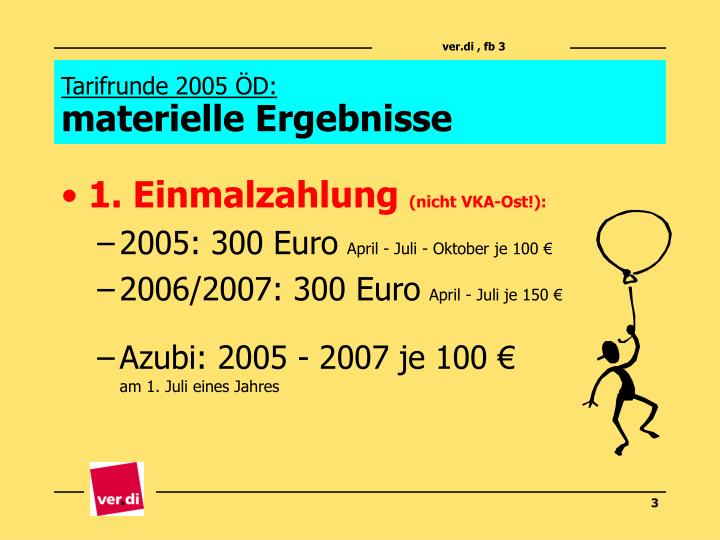 Tarifrunde 2005 d materielle ergebnisse