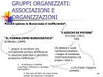 gruppi organizzati associazioni e organizzazioni11