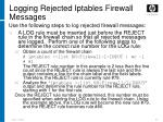 logging rejected iptables firewall messages