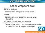 other wrappers are