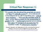 critical peer response 1