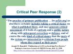 critical peer response 2