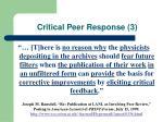 critical peer response 3