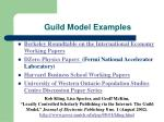 guild model examples