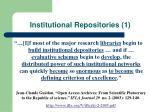 institutional repositories 1