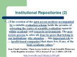 institutional repositories 2