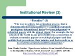 institutional review 3