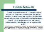 invisible college 1