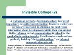 invisible college 2