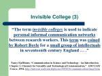 invisible college 3