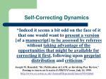 self correcting dynamics