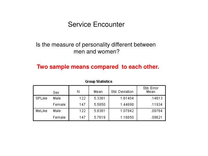 Service Encounter