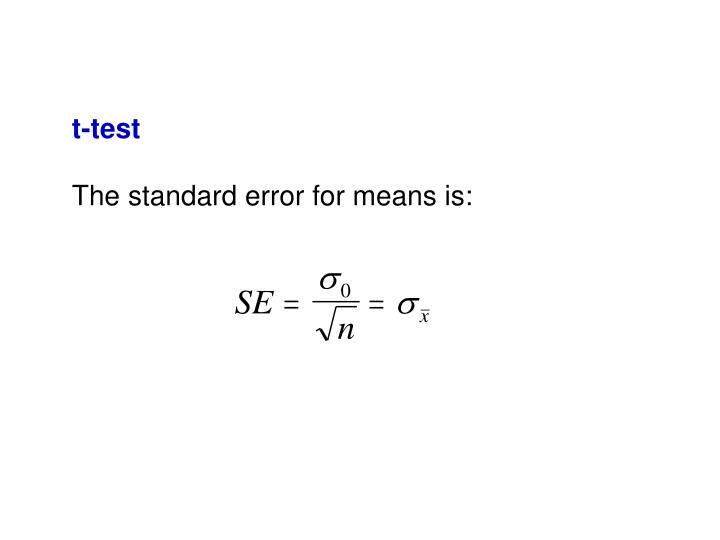t-test
