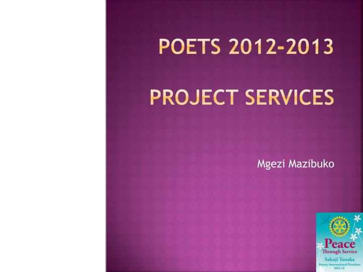 poets 2012 2013 project services n.