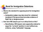 bond for immigration detentions
