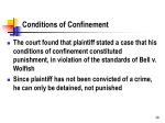 conditions of confinement1