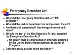 emergency detention act