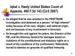 iqbal v hasty united states court of appeals 490 f 3d 143 cir2 2007