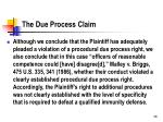 the due process claim