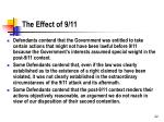 the effect of 9 11